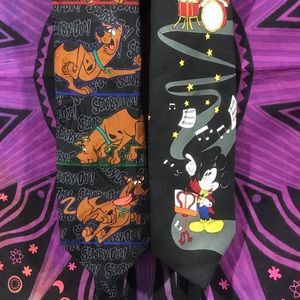 Other - Scooby-Doo tie and Mickey Mouse tie